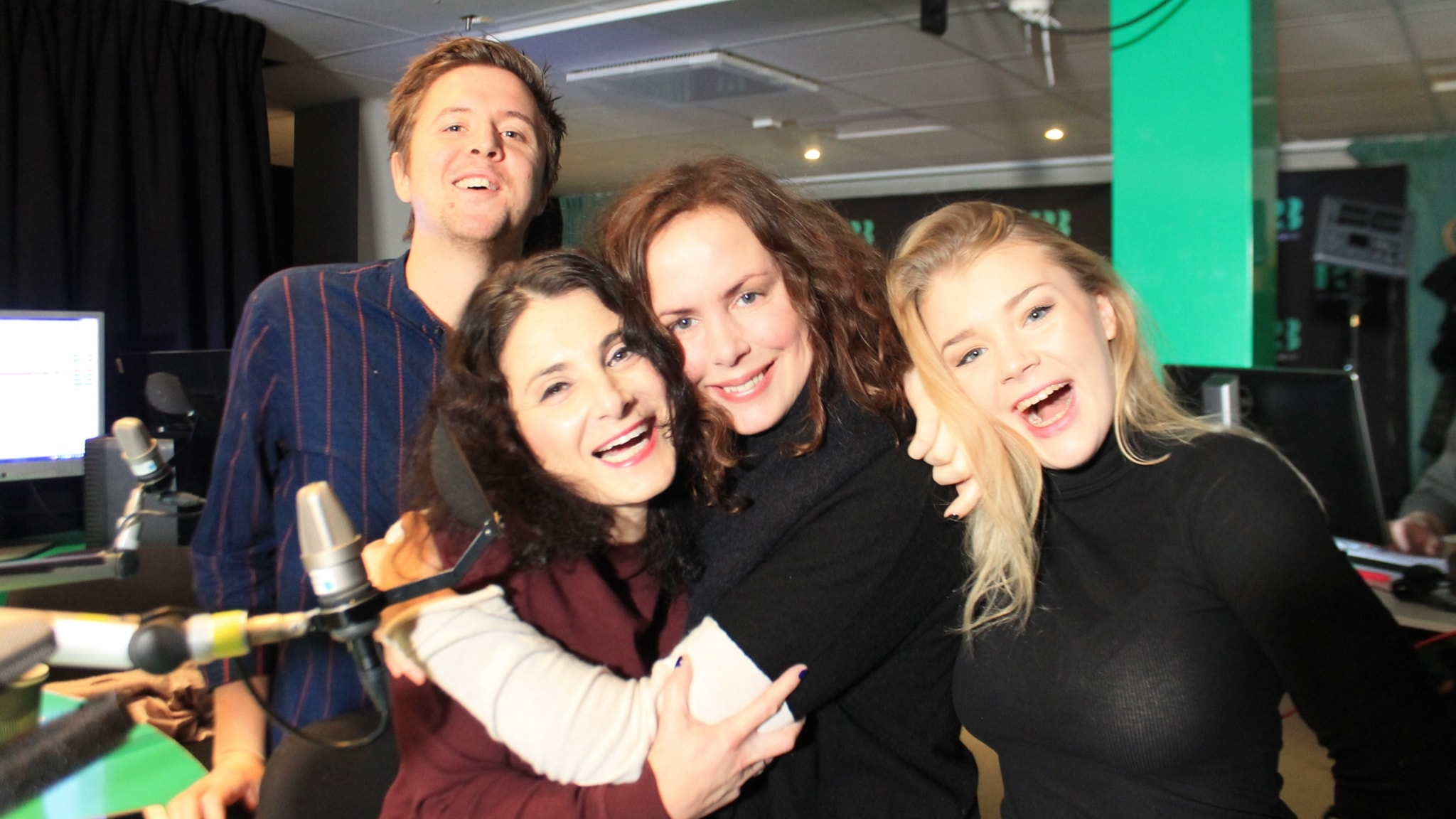 Kalle, Paulina Sokolow, Hanna och Kristina.