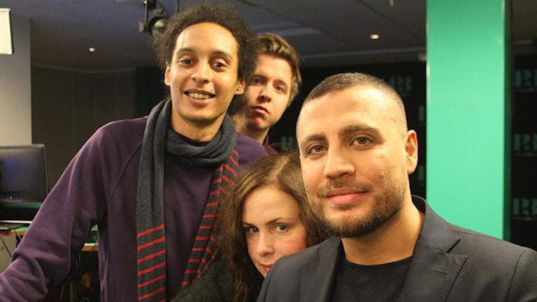 Victor, Kalle, Hanna och Baris Kayhan.