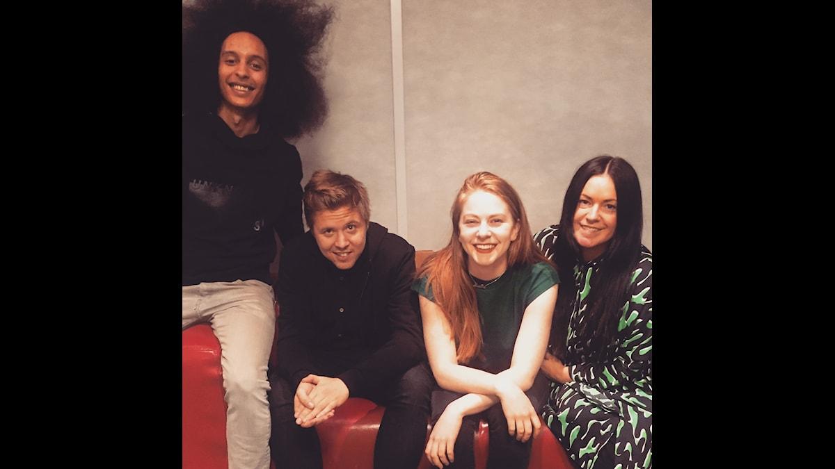 Victor, Kalle Berg, Simone Giertz och Martina