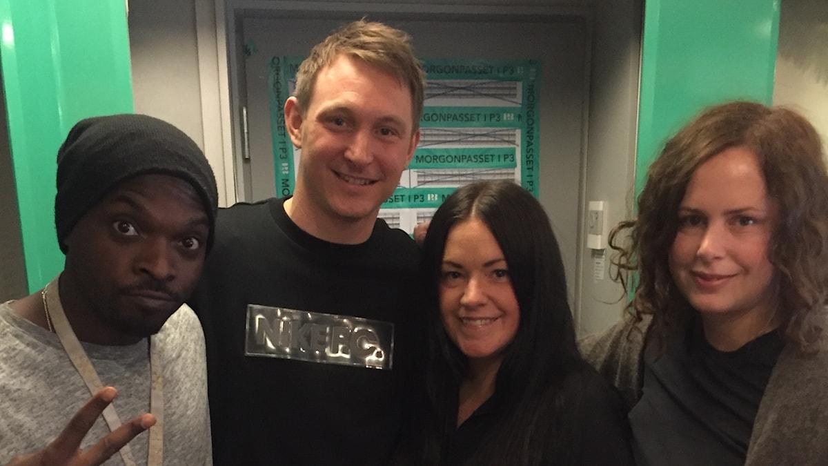 Kodjo, Kim Källström (!!!), Martina och Hanna