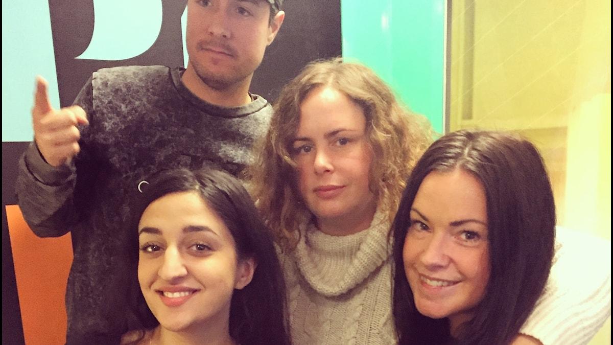 Parisa Amiri, David, Hanna och Martina i studion!