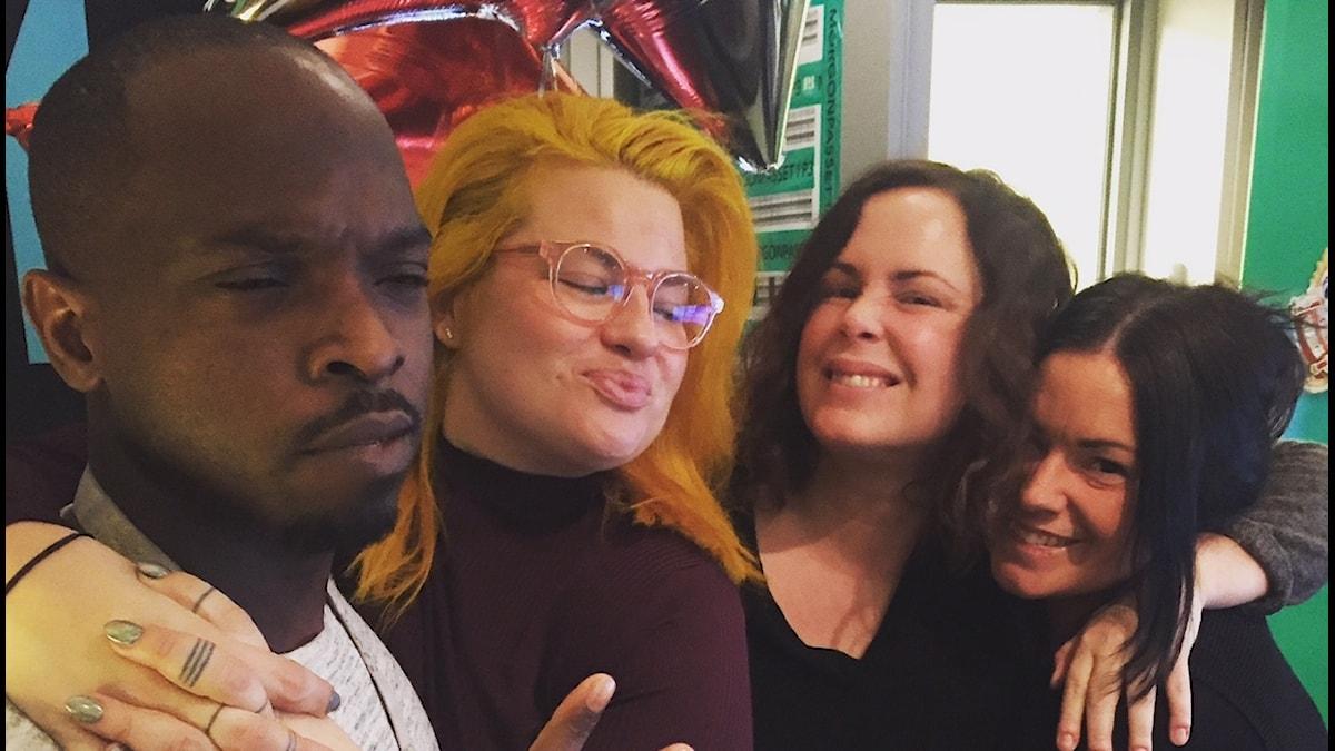 Kodjo, Kakan, Hanna och Martina