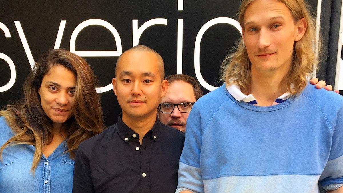 Farah, journalisten Patrik Lundberg, en gömd Jonatan och Marcus