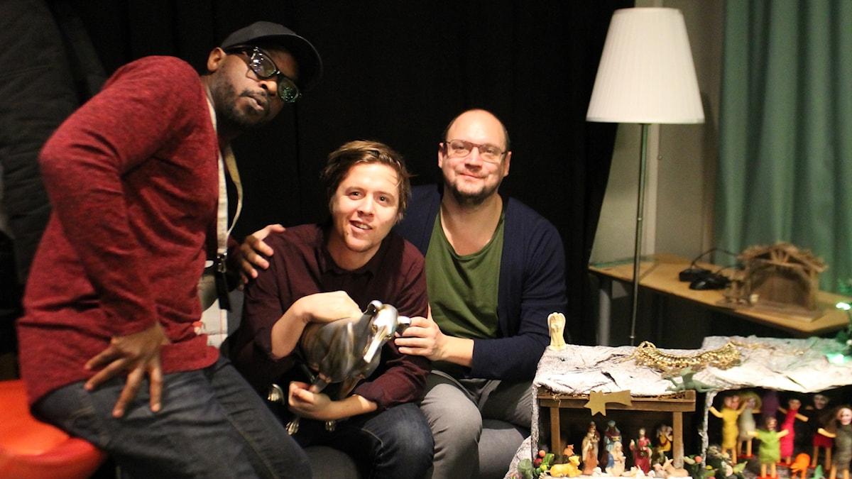 Kodjo, Kalle och Jonatan Unge.