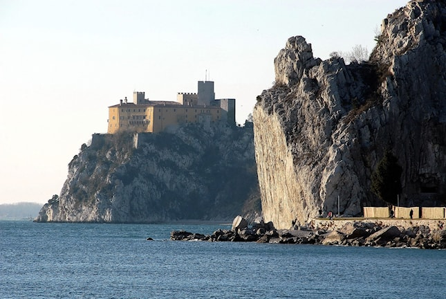 Slottet Duino utanför Trieste