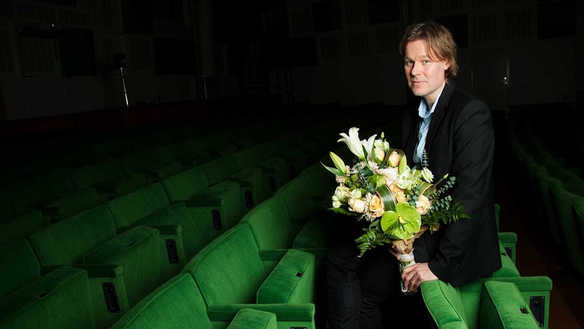 Jörgen Linds Vita Kommun tilldelas Sveriges Radios lyrikpris 2015. Foto: Stina Gullander /Sveriges Radio