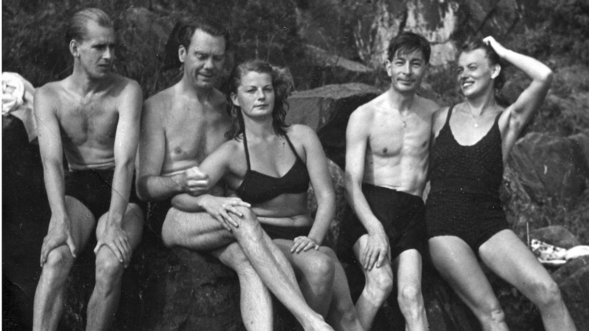 Arthur Lundkvist och Maria Wine 1947