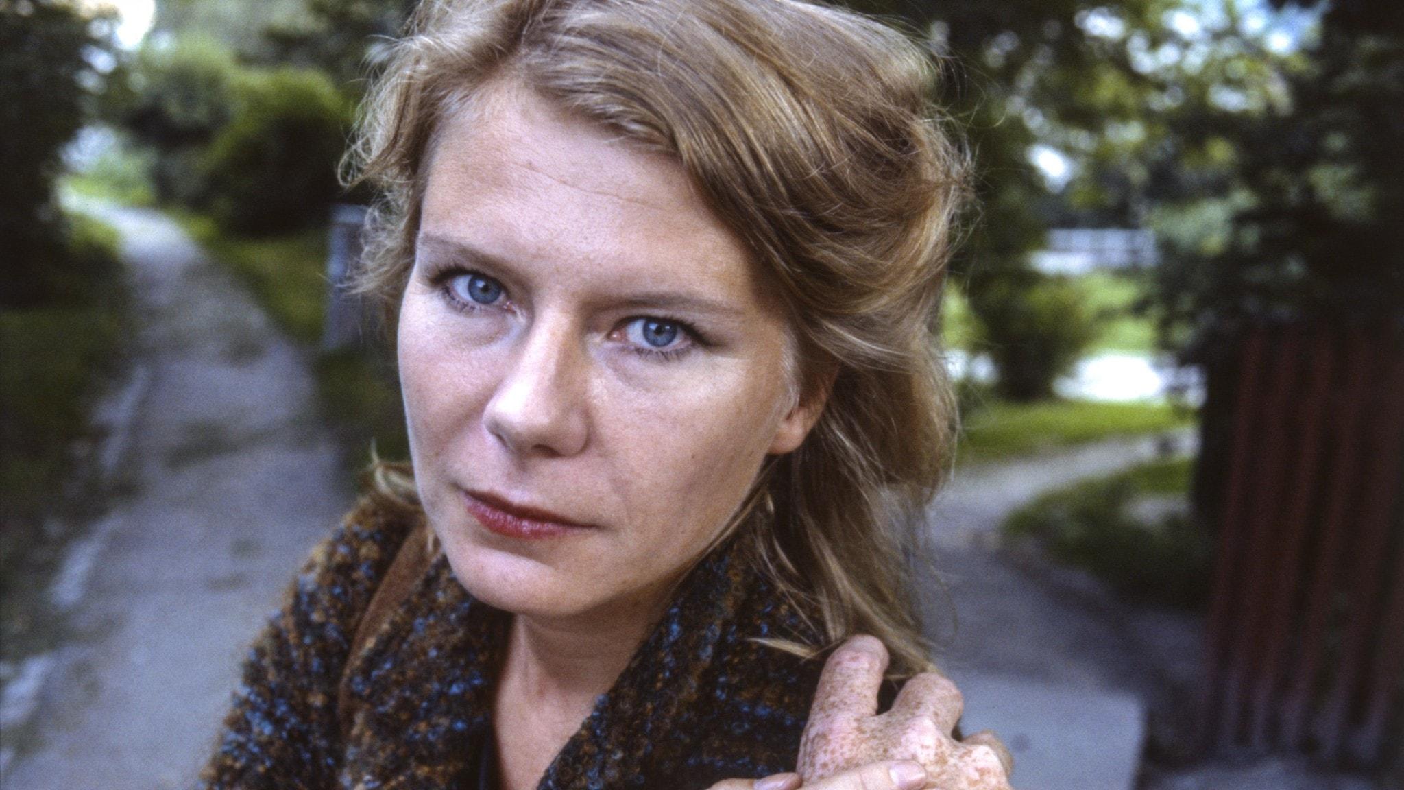 Porträtt av poeten Anne-Marie Berglund