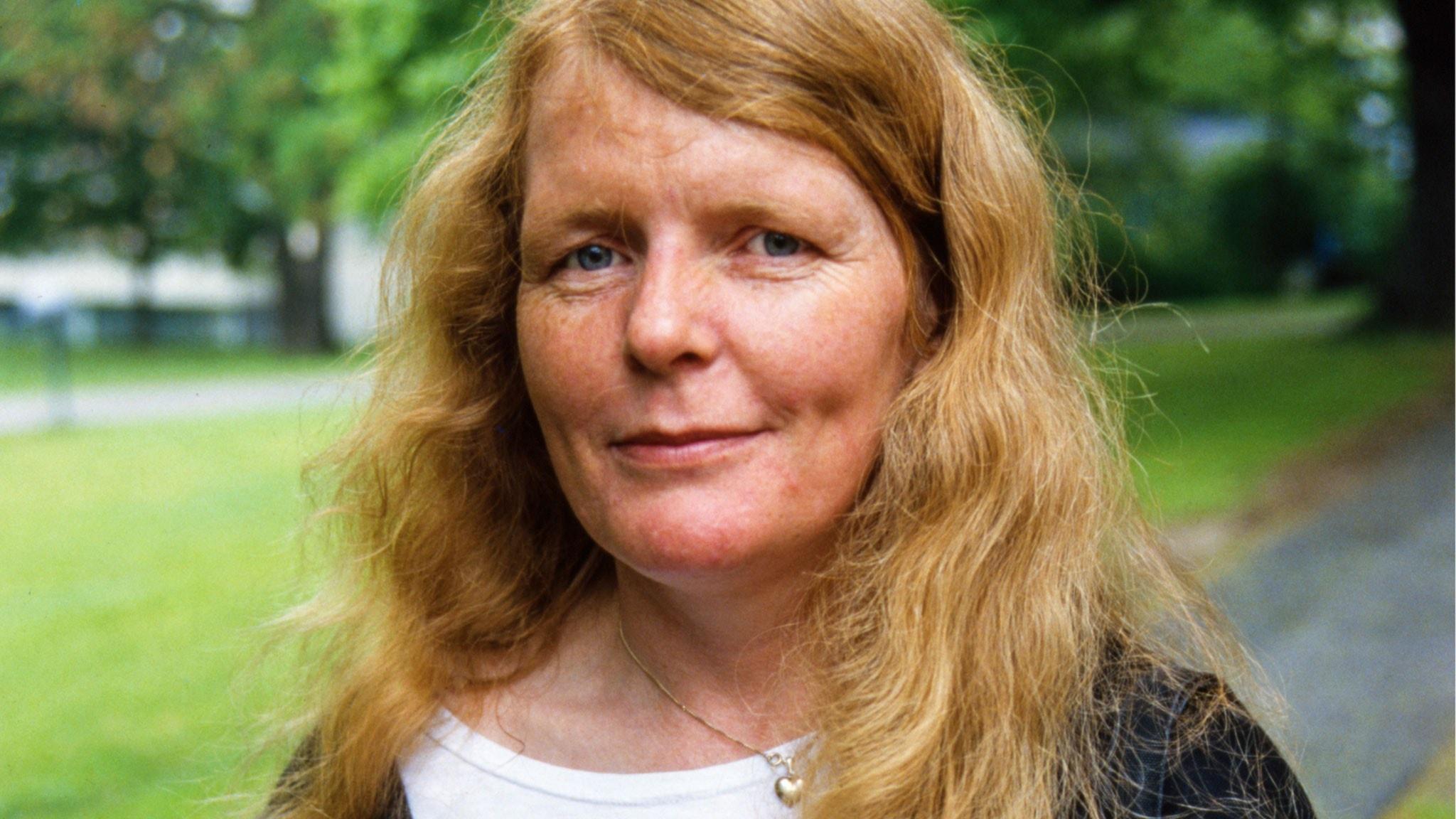 Kristina Lugn (från1985). Foto: Bertil S-Son Åberg/ SVT Bild.