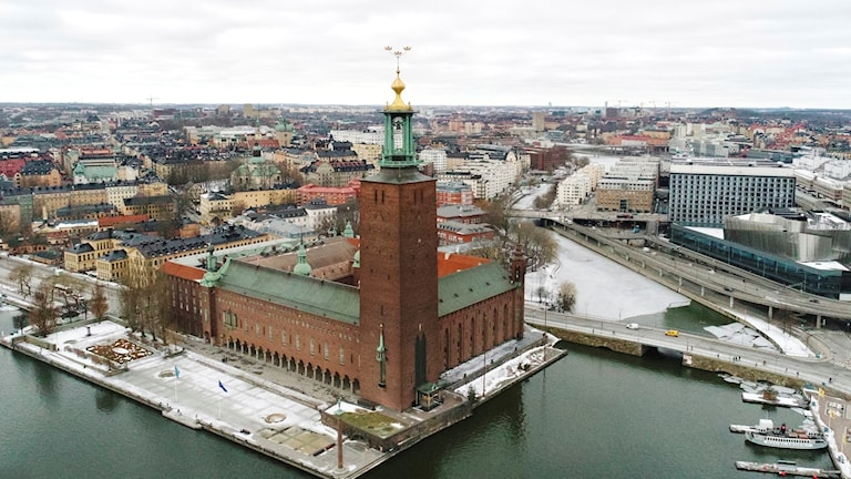Stockholm Town Hall  seen from above