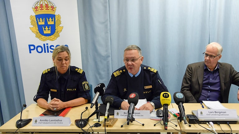 Police discussing the case at a Tusday morning press conference.