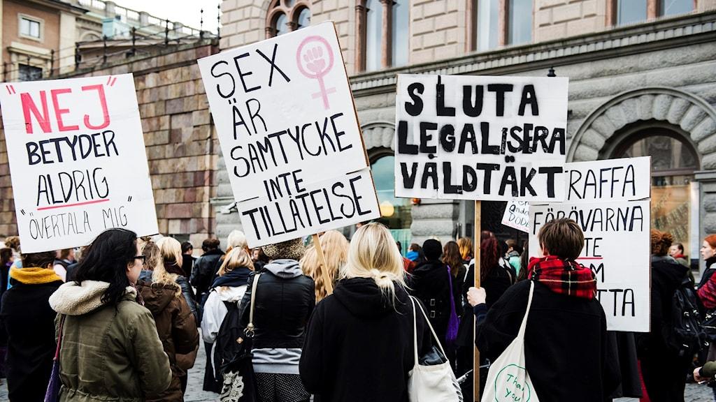 Demonstrators in Stockholm. Archival photo.