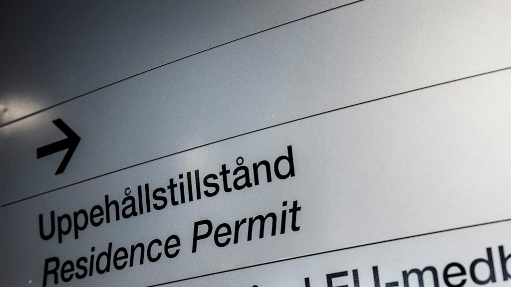 Residence Permit sign.