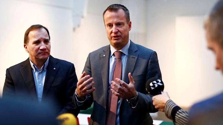 Anders Ygeman and Stefan Löfven.