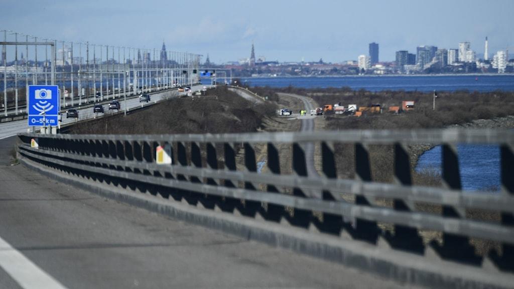 The Øresund Bridge between Sweden and Denmark