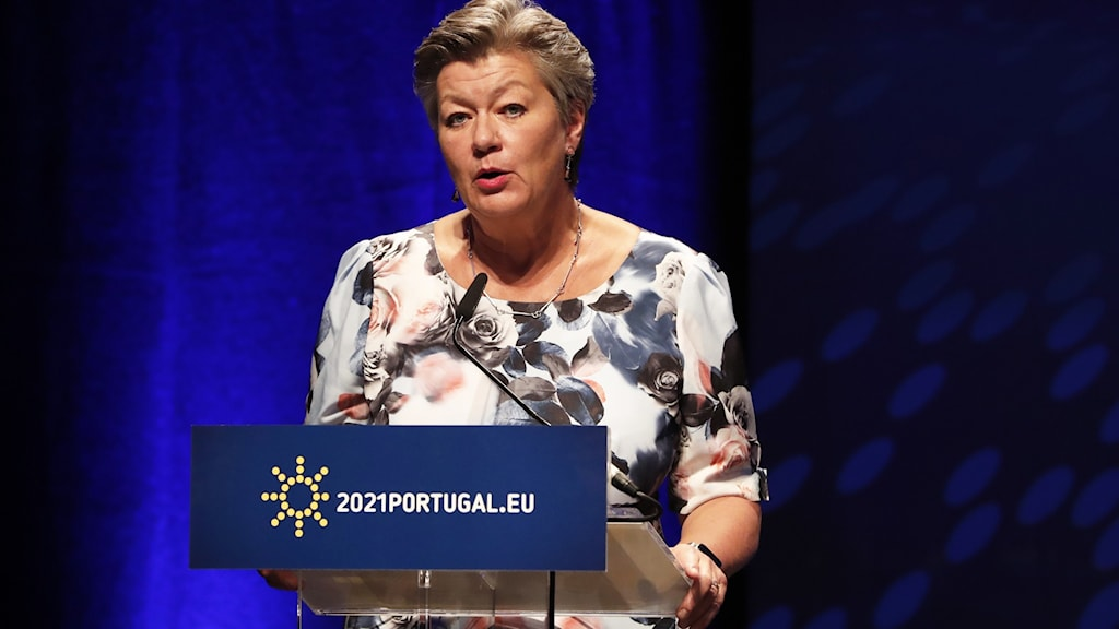 Picture of The European Union's migration commissioner Ylva Johansson says that The EU stands in solidarity with Lithuania and a sensible migration process.