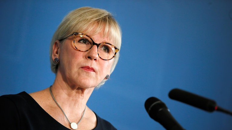 Margot Wallström (S), the Minister for Foreign Affairs.