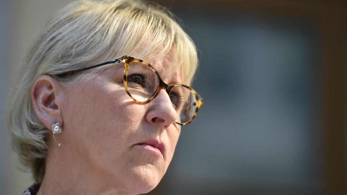 Foreign minister Margot Wallström of the Social Democrat party.