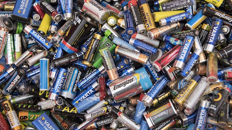 A mass of random batteries all lying together.