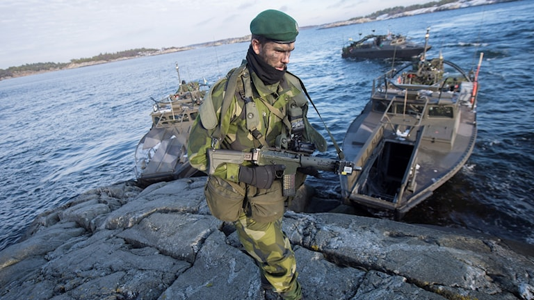 A file photo from Swenex 2016, a military exercise by Sweden last November.