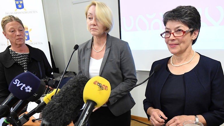 Swedish chief prosecutor Marianne Ny at a press conference in September last year.