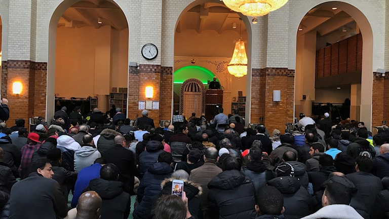 Muslims in prayer in a mosque in Stockholm on Friday 15th March 2019. a36a894262e05