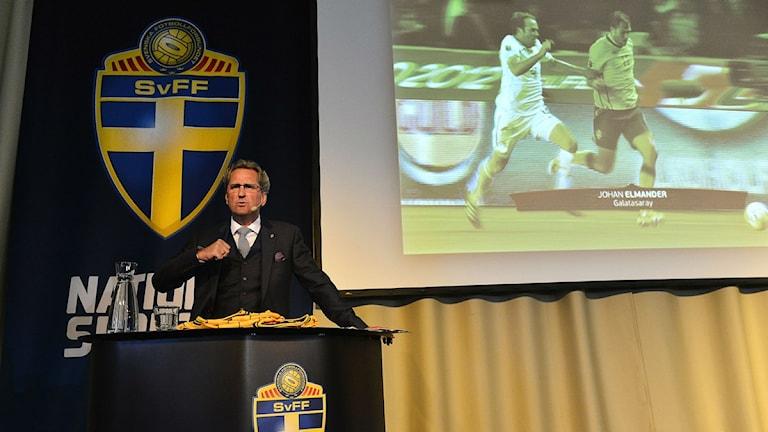 Erik Hamrén needs a win against Denmark to keep him in his job. Phhoto: Anders Wiklund/TT