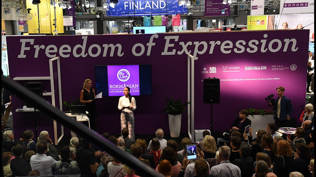 Minister for Culture and Democracy Alice Bah Kuhnke speaking at the opening of the Gothenburg Book Fair.
