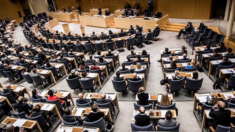 The Riksdag chamber