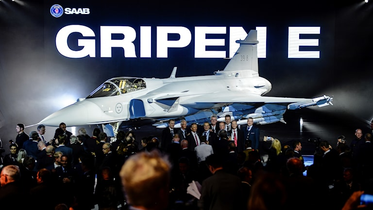 The Gripen fighter plane is sold to countries including Brazil and Thailand.