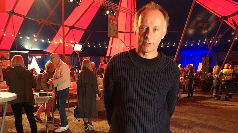 Johan Ehrenberg of the ETC company who organized one of the several alternative book fairs.