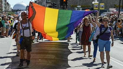 Rainbow flags filled the streets. Photo: LEIF R JANSSON / SCANPIX