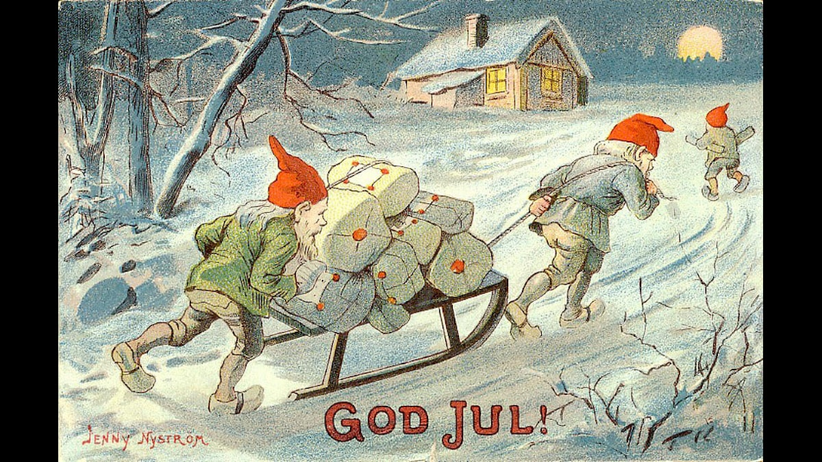 One of Jenny Nyström's Christmas cards, Image: Wikimedia Commons