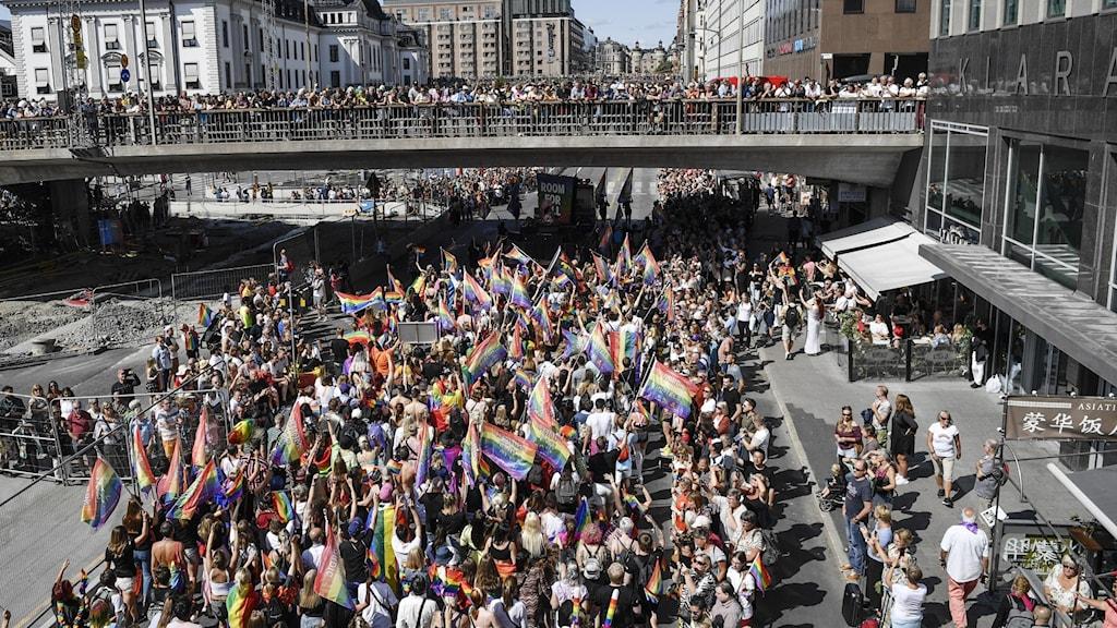 Stockholm's Pride Parade in 2019.