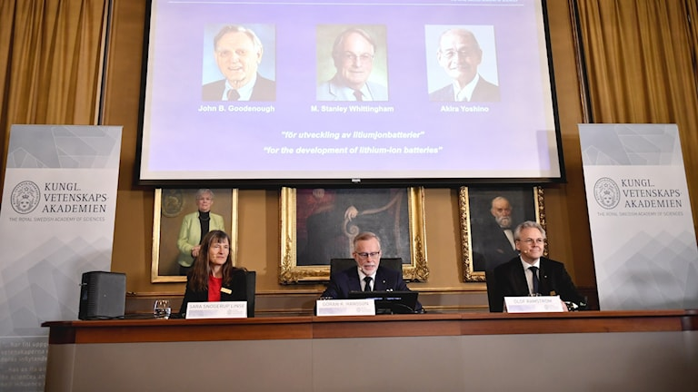 The announcement of the Nobel Prize winners in chemistry