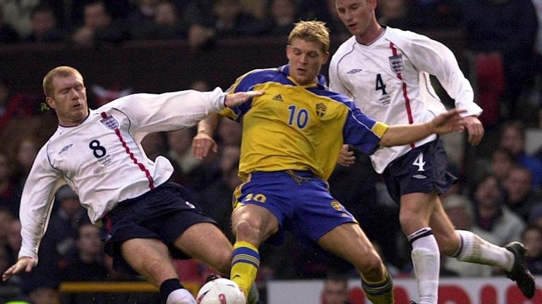 A 2001 friendly between Sweden and England at Old Trafford, Photo: Fredrik Sandberg/TT