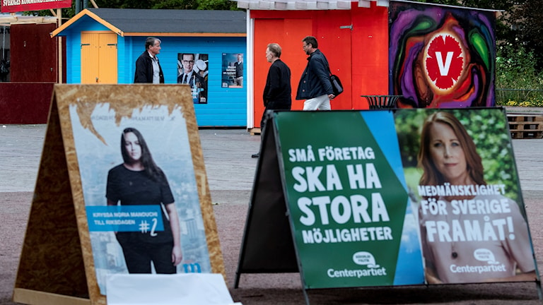 Election posters in Sweden