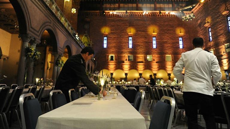 No place laid for jimmie Åkesson at the Nobel banquet. Photo: Erik Mårtensson / TT