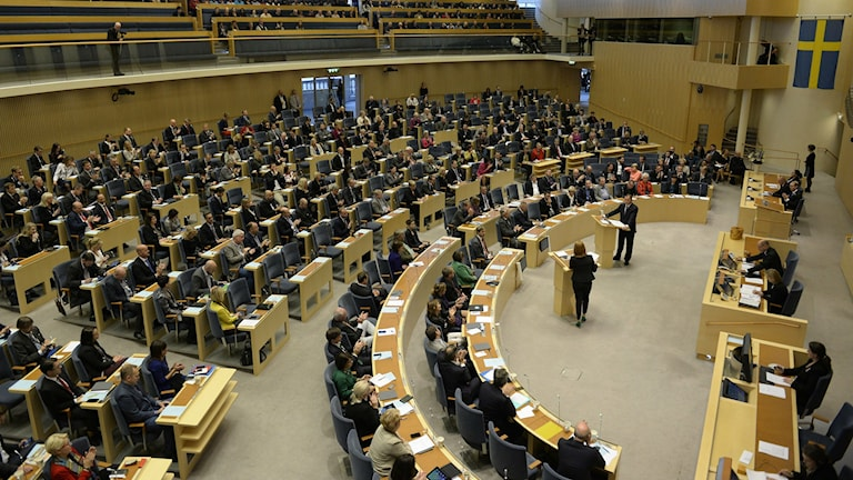The assembly of the Swedish Parliament. Photo: Jessica Gow / TT.
