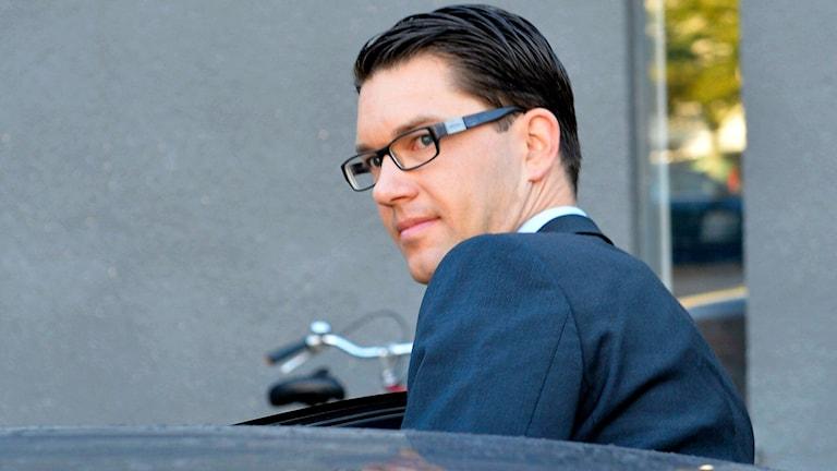 Sweden Democrat leader Jimmie Åkesson. Photo: Anders Wiklund / TT