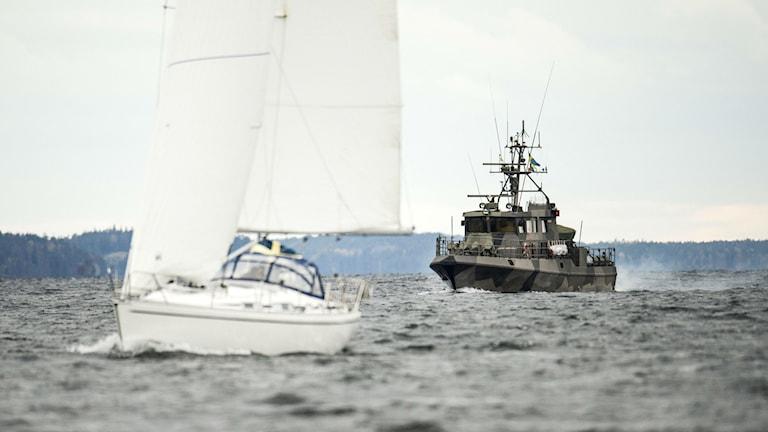October's submarine hunt in the Stockholm archipelago, Photo: PONTUS LUNDAHL / TT