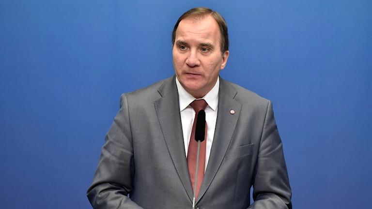 Swedish Prime Minister Stefan Löfven. Photo: Roger Vikström / TT