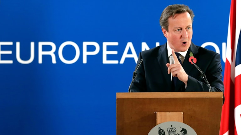 British Prime Minister David Cameron has suggested limiting freedom of movement across the EU. Photo: AP Photo/Yves Logghe/TT
