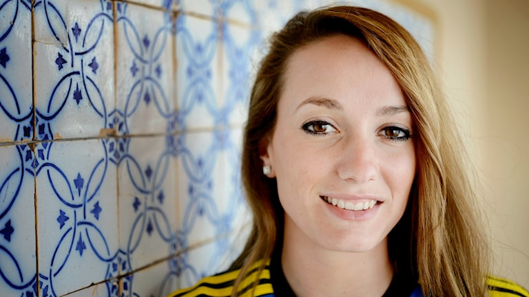Swedish striker Kosovare Asllani suffered from concussion and a broke jaw yesterday. Photo: Jessica Gow / TT