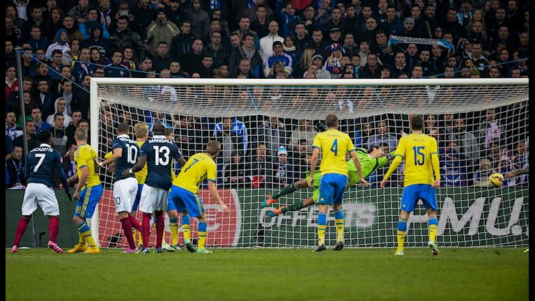 France scores the winning goal, Photo: Jonas Ekströmer/TT