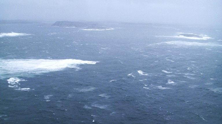 The stormy, and warmer, waters of Skagerrak. File photo: Sjöfartsverket / Handout / TT.