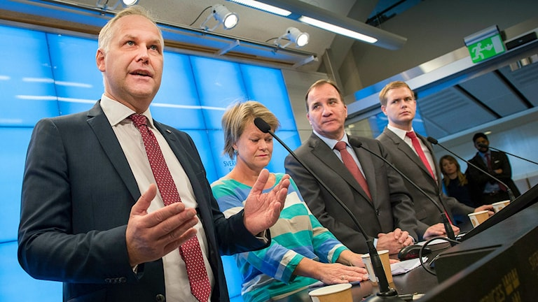 Jonas Sjöstedt's Left Party has been involved in the budget negotiations together with the governing Social Democrats and Greens. Photo: Jonas Ekströmer / TT