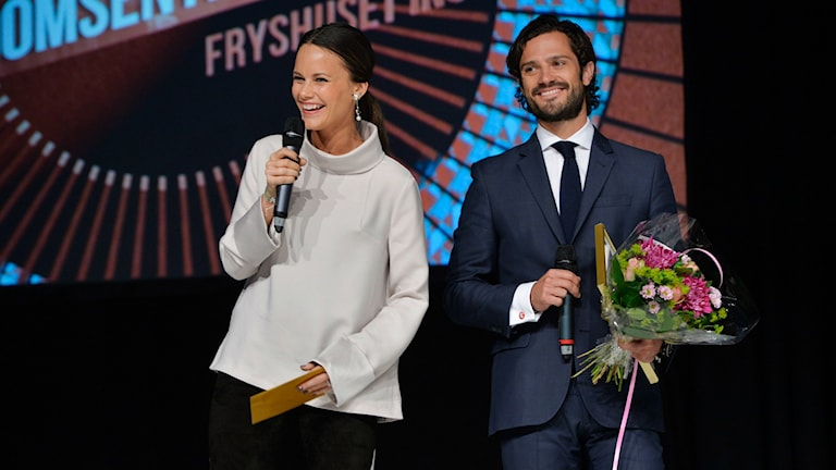 Sofia Hellqvist and her fiancé Prince Carl Philip. Photo: Henrik Montgomery / TT