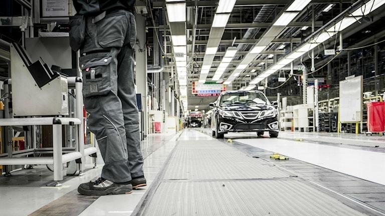 A scene from better days at Nevs factory in Trollhättan. Photo: Magnus Hjalmarson Neideman/SvD/TT.