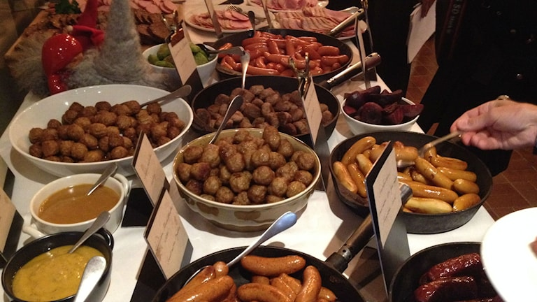 That's a lot of meat! The julbord on display - Swedes want more Swedish produce, more organic and more veggies.Photo:Dave Russell/Radio Sweden
